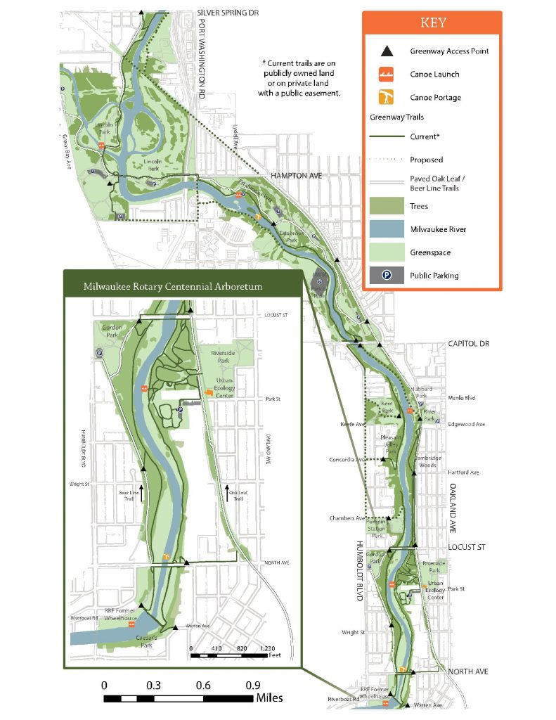 Milwaukee Greenway Map