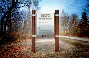 Milwaukee River Greenway Sign
